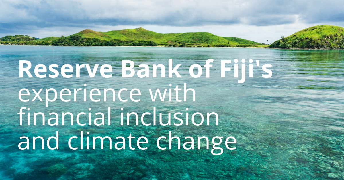 Reserve Bank of Fiji's Experience with Financial Inclusion