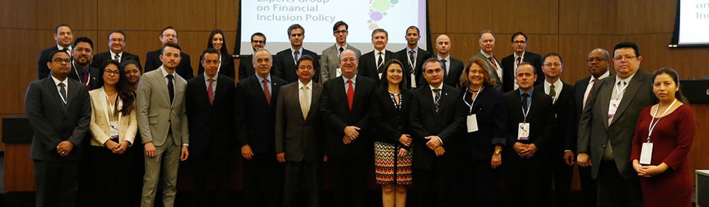 Participants of the fist Experts Group on Financial Inclusion in Brazil, May 2017