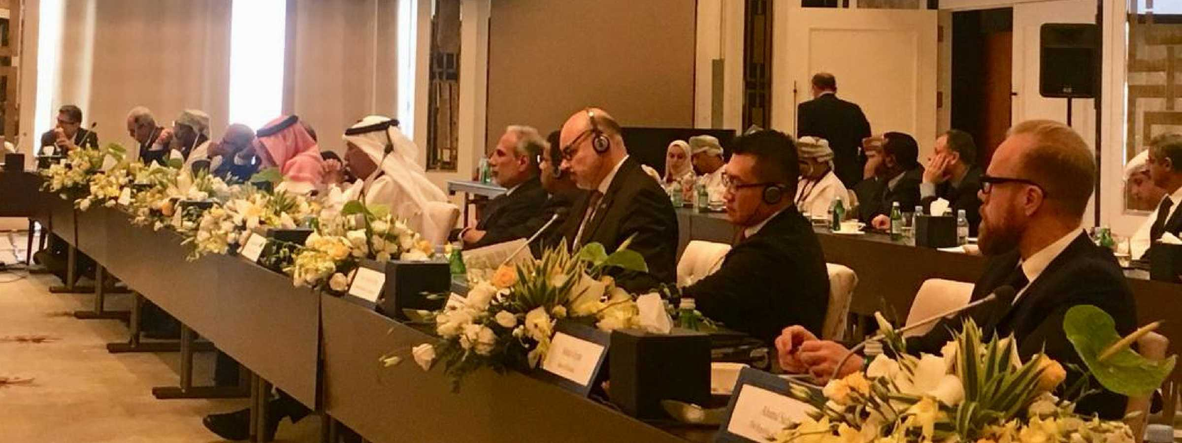 AFI Executive Director Dr. Alfred Hannig attending a high-level roundtable on the Emergence of FinTech: Opportunities and Challenges for the Arab World, 18 September 2018 in Amman, Jordan