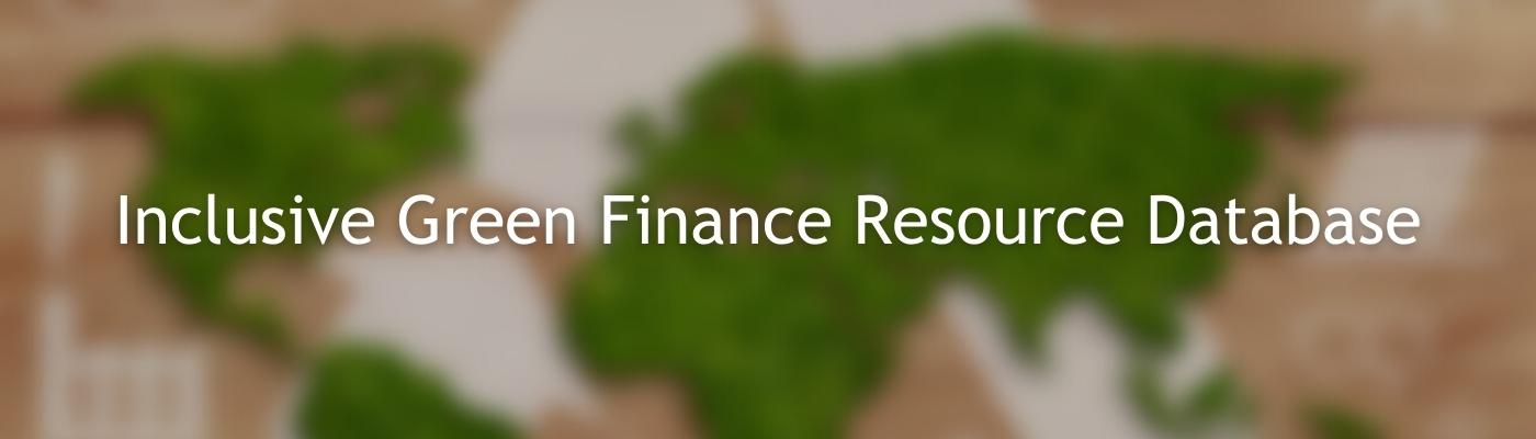 Inclusive Green Finance Logo